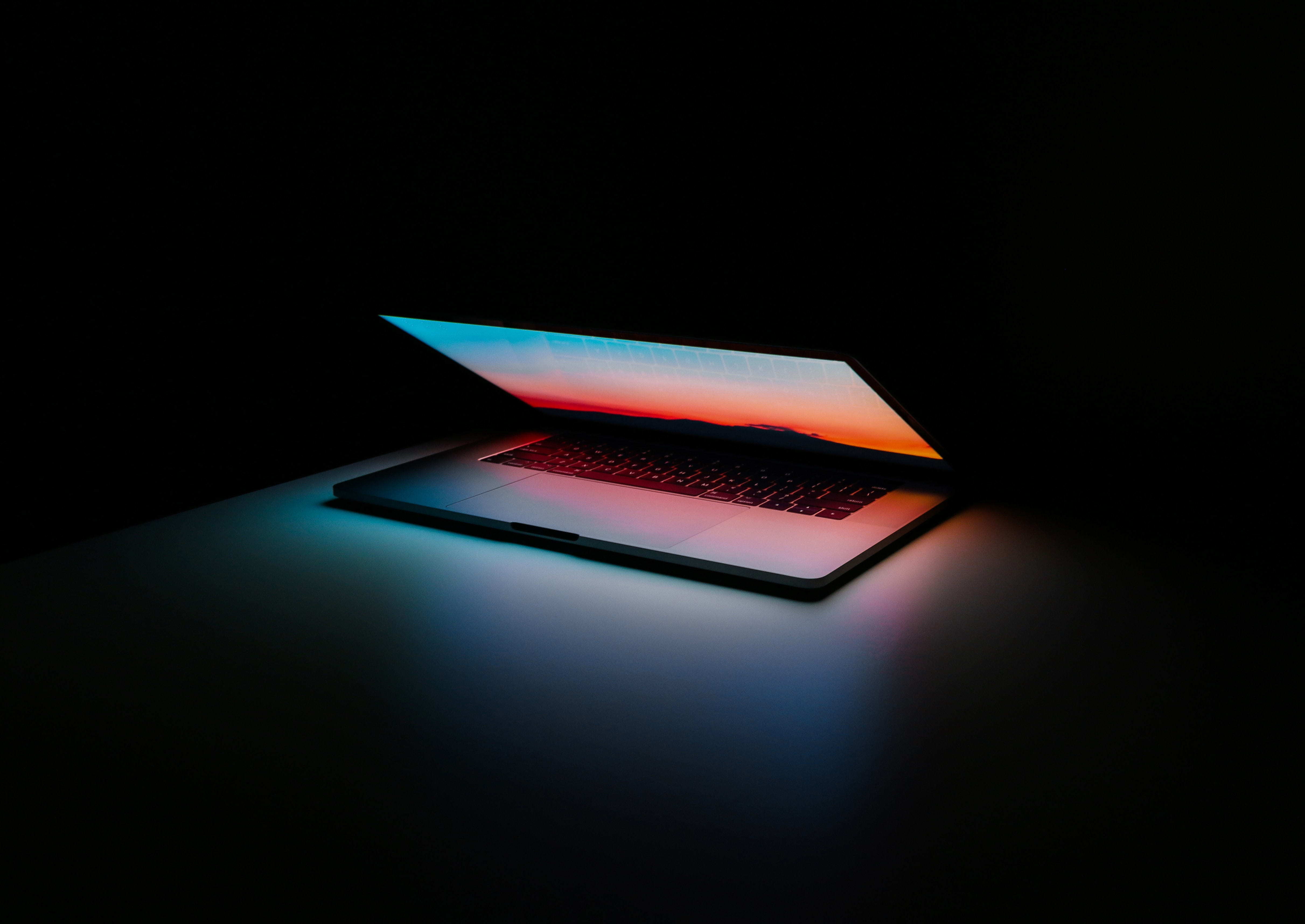 glowing computer