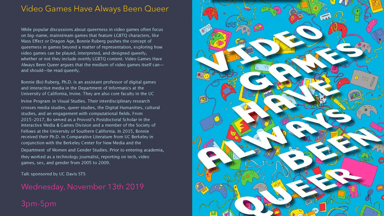 Ruberg book cover, Video Games Have Always Been Queer