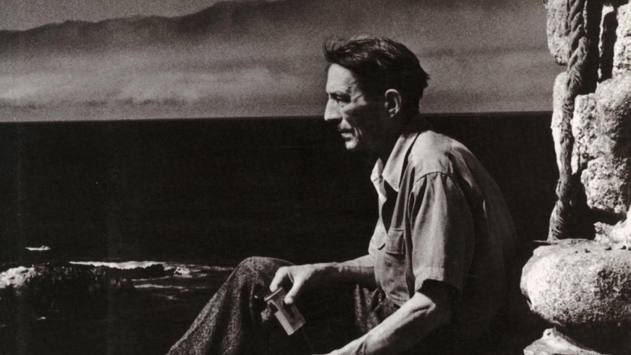 Tim Hunt book cover with black and white photo of Robinson Jeffers