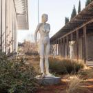 Sculpture garden at the Manetti Shrem