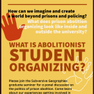 Abolitionist student organizing flyer