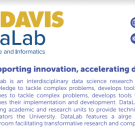 Information about UCDavis DataLab (text included in event description) and image of Shields Library.