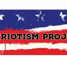 """Patriotism Project"" written on Stars and Stripes background"
